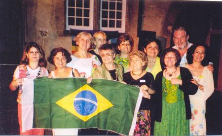 Integrando o grupo brasileiro no Encontro Internacional de  Educadores Freinet no Castelo de Varenholz, na Alemanha.